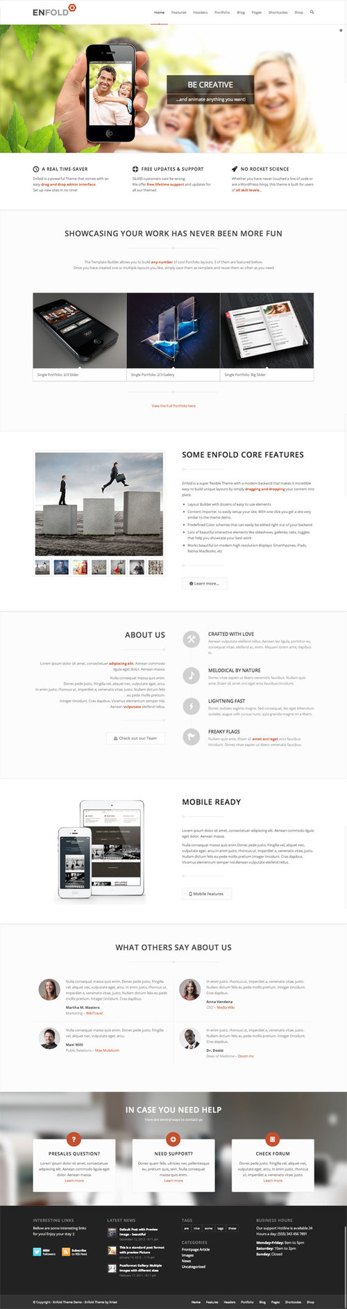 Enfold Review, ThemeForest, Enfold WordPress Theme