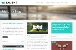 Salient blog page