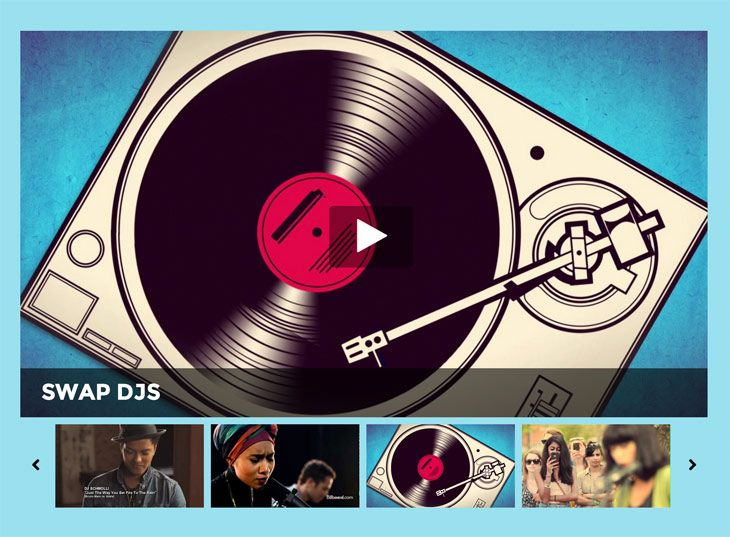 Event theme video-slider-Themify