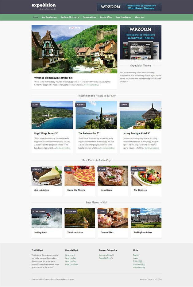 Expedition Review - WPZOOM Travel Directory WordPress Theme