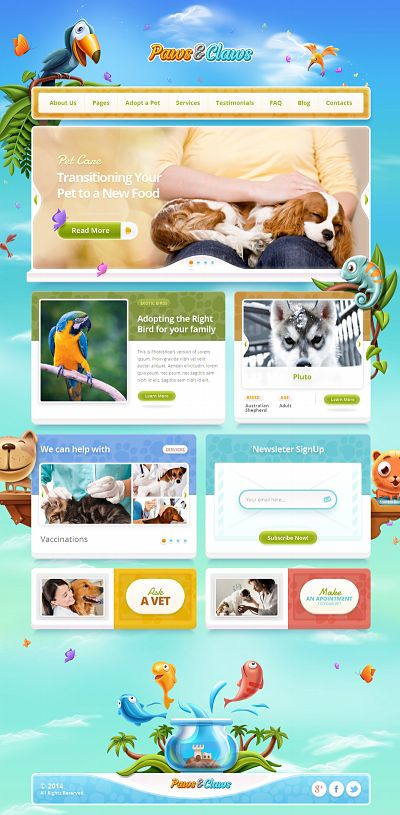 Paws & Claws Review  ThemeFuse WordPress Theme for Pets and Animals