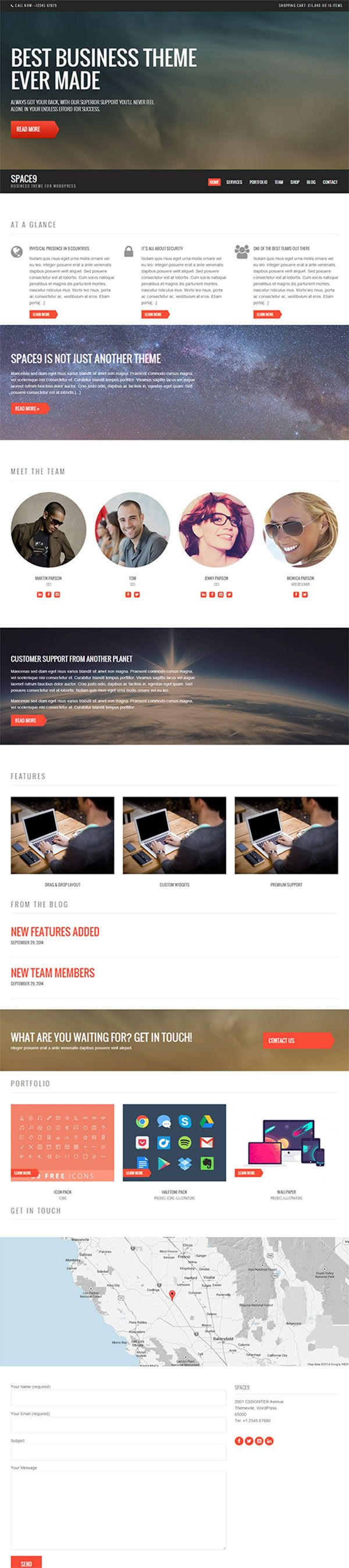 Space9 Business WordPress Theme Review  CSSIgniter