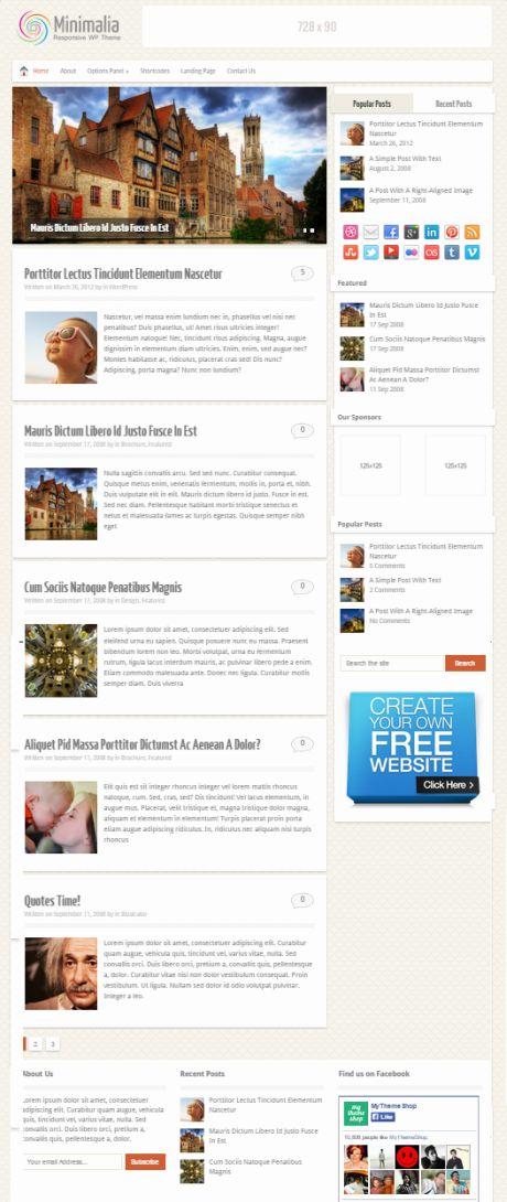 Minimalia Theme Review - MyThemeShop | READ B4 BUY