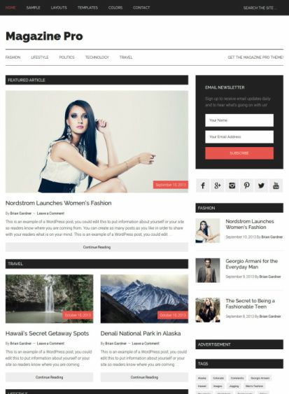 Magazine Pro Review - StudioPress genesis child theme