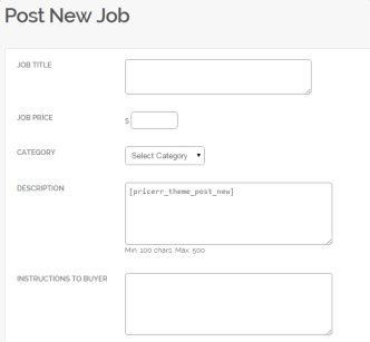 Post New Job PricerrTheme