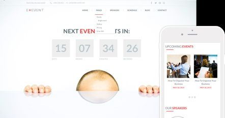 E-event Review Demo - TeslaThemes Event Conference WordPress theme