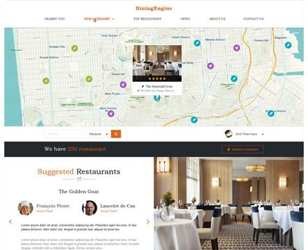 DiningEngine Review EngineThemes - Restaurant Directory Theme for WordPress