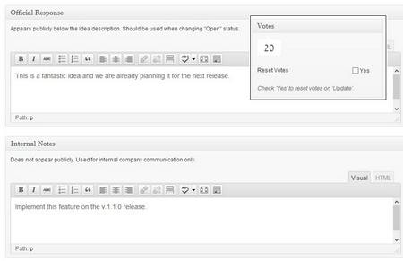 AppThemes Backend Panels for Ideas Management