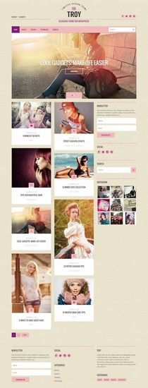 Troy Review - CSSIgniter Fashion Blog theme for Female Chic Bloggers