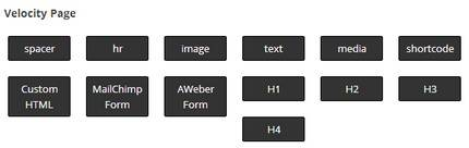 Page Builder Items for Velocity