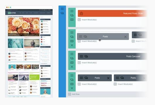 Divi Moduls - Drag and Drop Page builder- Extra Theme Demo ElegantThemes