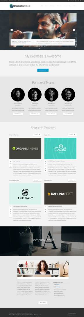 Business WordPress Theme Demo – Organic Themes Designed For Business Owners