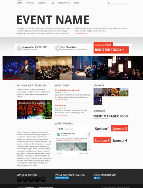 Event Manager Review - Showthemes - Event WordPress Theme