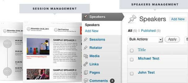 Sessions and Speakers Management - Event Manager