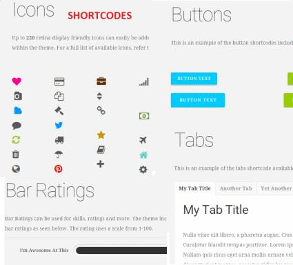 Shortcodes – Business Theme