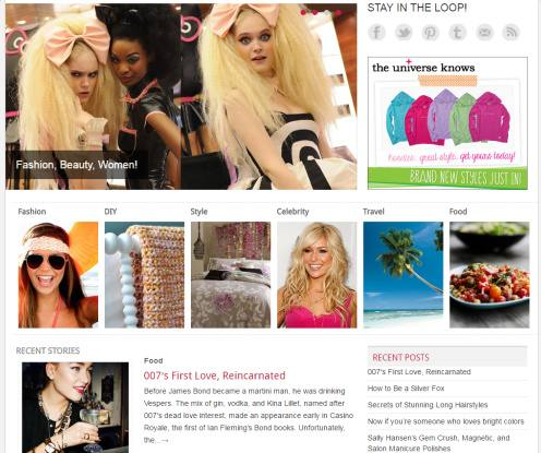 Homepage slider and Featured Categories - Pretty Clover Themes