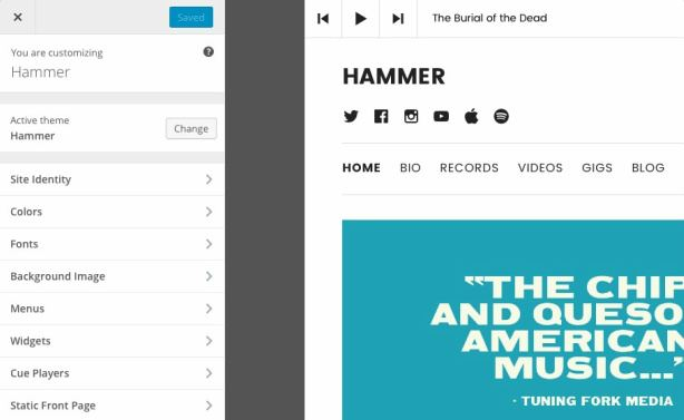 how to use customizer variables in theme