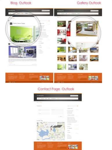 Page Templates - Gallery Contact Blog