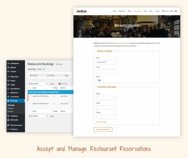 Restaurant Reservations - online booking