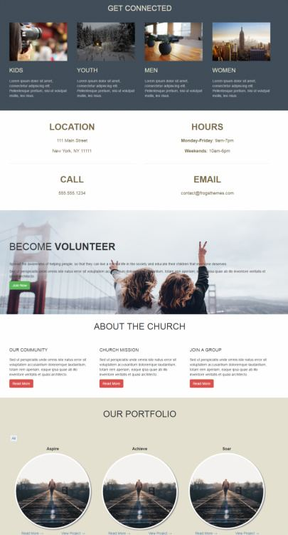 Alive Church Pro - Homepage Featured Blocks