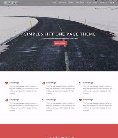 SimpleShift Pro - ThemeShift One Page Business WordPress Theme