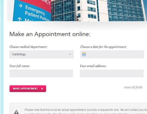 Appointments Page - Medica ThemeFuse