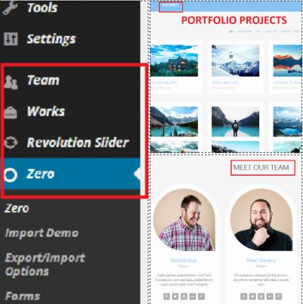 Custom Posts - Zero Business Portfolio Theme