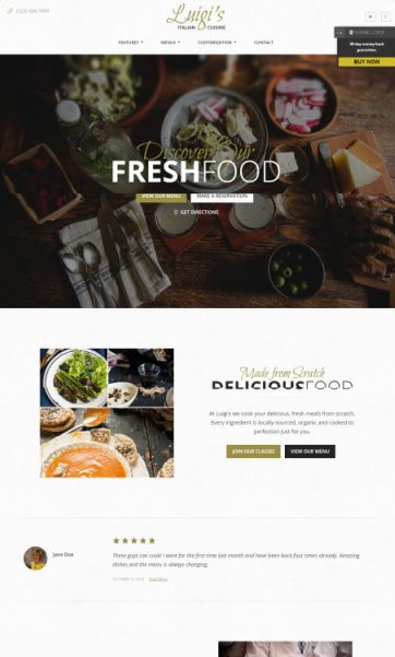 Luigi Review - Theme of the Crop - Restaurant WordPress Theme
