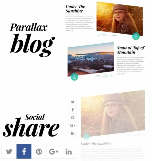 Float Blog page with Social share