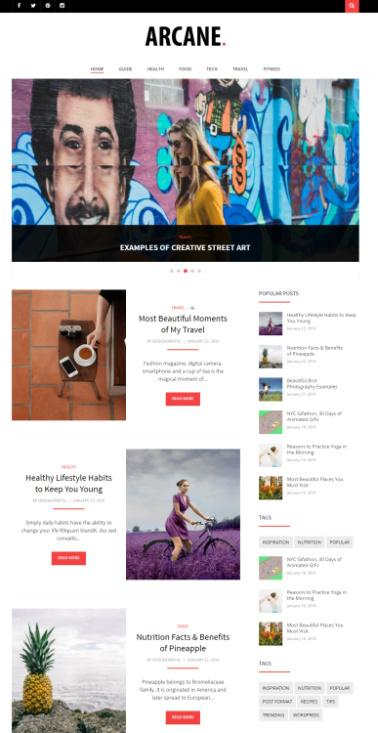 Arcane - DesignOrbital Magazine WordPress Theme