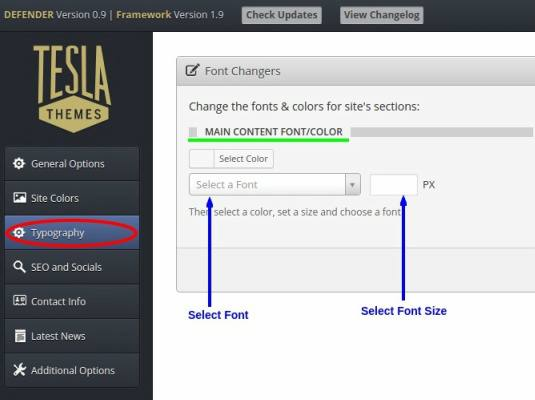 Tesla Framework Options - WordPress Materialism