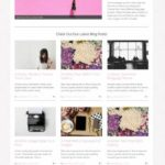 Jasmine Angie Makes - WordPress blog gallery theme