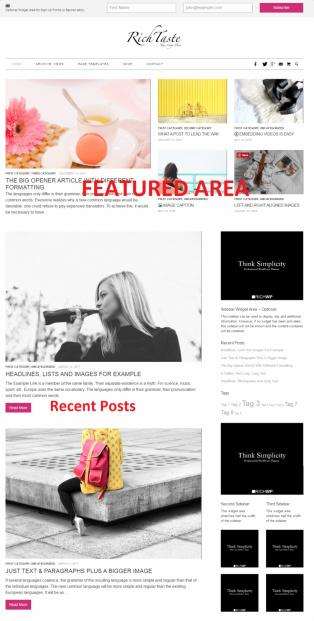 Rich Taste - RichWP Screenshot - Magazine Blog Theme