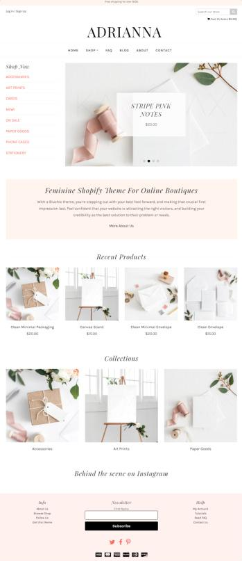 Adriana Review - Bluchic Shopify Theme | READ TRUTH
