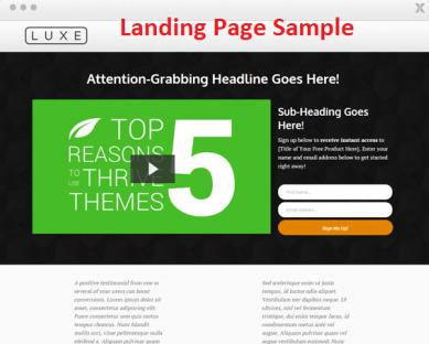 Luxe Landing Page Sample