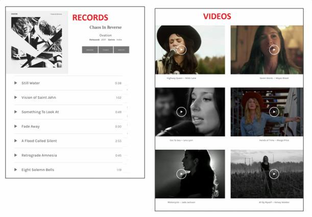 Ovation Records and Videos - AudioTheme Plugin