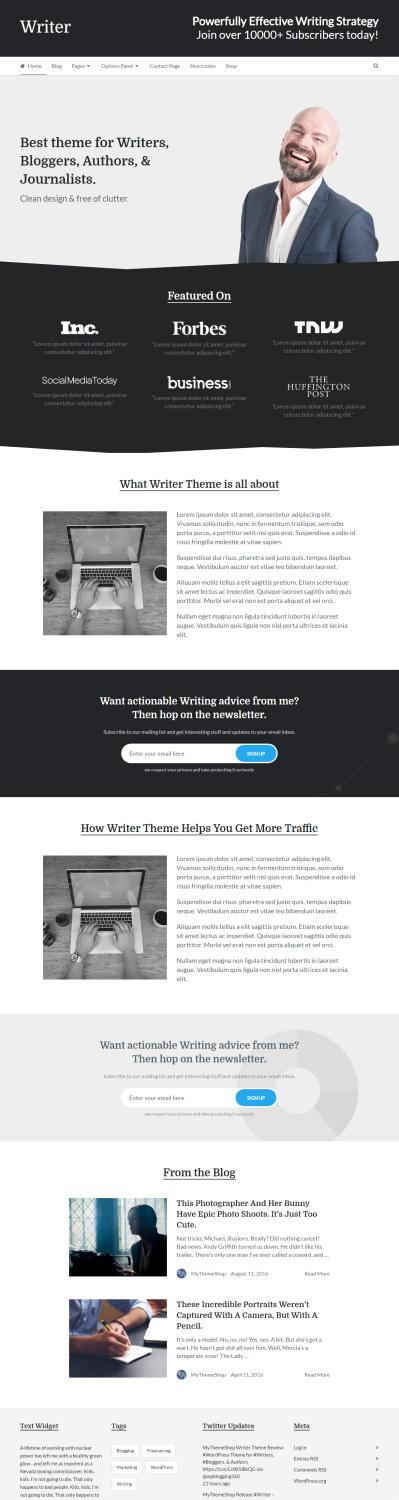 free blogger templates for writers - writer review mythemeshop blog theme for writers good