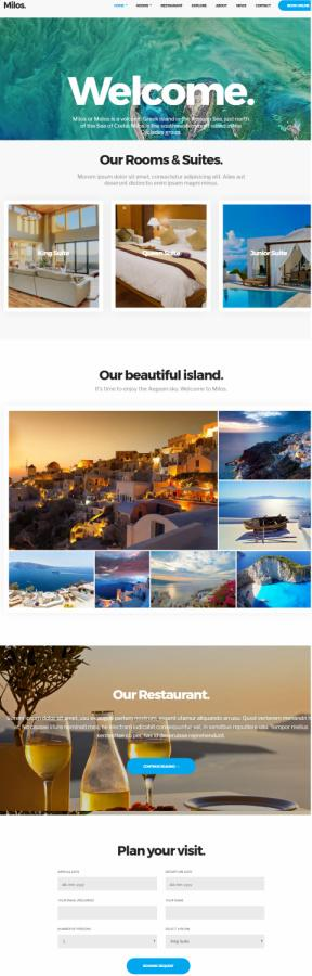 Milos WordPress Hotel Theme - CSSIgniter