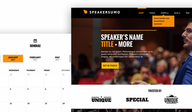 Event Calendar - Speakersumo