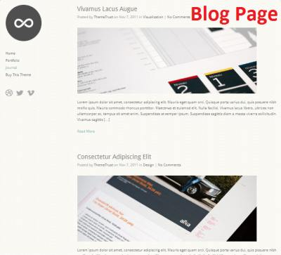 Blog Page - Infinity