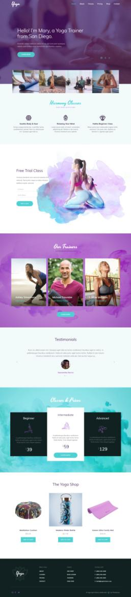 Yoga Fitness Sport WordPress Theme by ThemeFuse