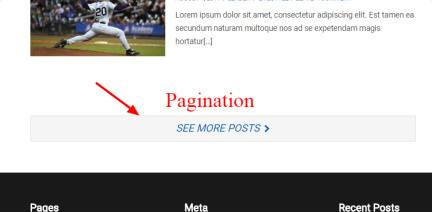 Ajax Pagination - SuperSport Theme