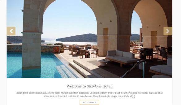 Frontpage Slideshow - SixtyOne Hotel Template
