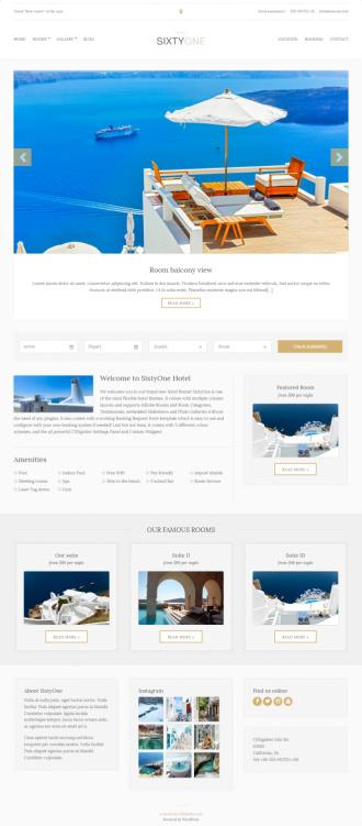 SixtyOne CSSIgniter - Hotel WordPress Theme