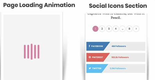 Social Icons and Page Loading Animation - Lifestyle