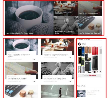 Frontpage Featured Grid Layout - ViralBlog