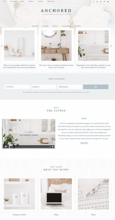 Anchored Restored 316 - Genesis Child Blogging Theme