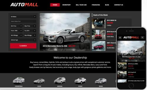 Responsive AutoMall WordPress Theme
