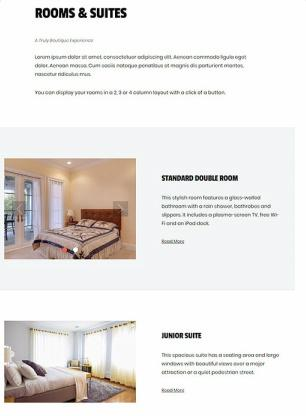 Rooms Suites Listing - Boutique Theme