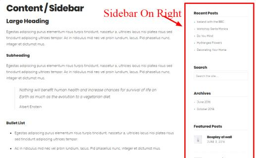 Sidebar Right Side - Planner Pro Zigzagpress